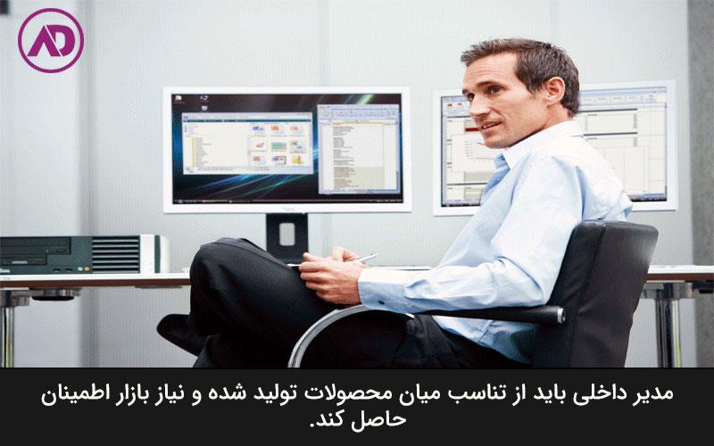 شرح وظایف مدیر داخلی شرکت تولیدی